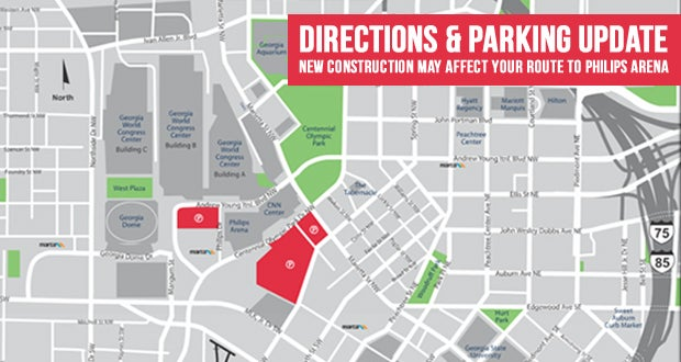 New Interactive Parking Map | State Farm Arena