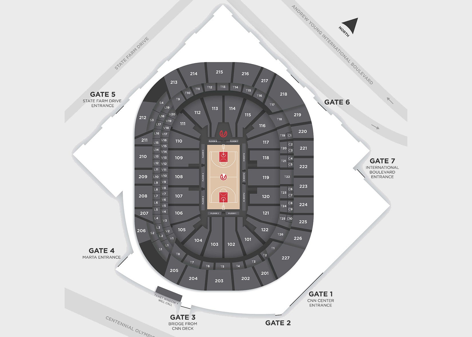 Seating Map State Farm Arena